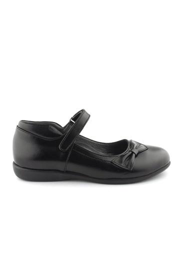 Cici Bebe Ayakkabı Rugan Deri Kız Çocuk Ayakkabısı Siyah